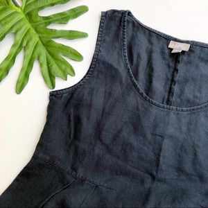 J Jill black linen shift dress